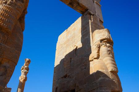 Entrance Gate in Ancient Persepolis Unesco Site Iran Stock Photo