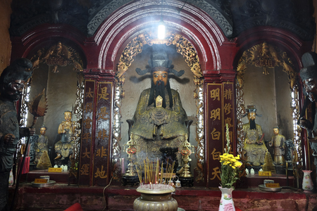 Ho chi Minh city, Vietnam. Nghia An Hoi Quan Pagoda, one of Ho Chi Minh Citys many landmarks to discover, one of the oldest temples in Saigon, Vietnam, Asia.