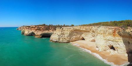 Panorama view of a Praia da Rocha in Portimao, Algarve region, Portugal
