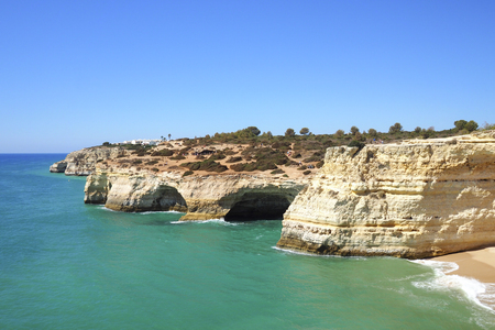 A view of a Praia da Rocha in Portimao, Algarve region, Portugal Stock Photo