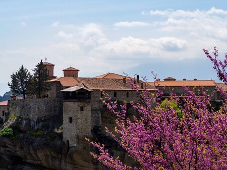 The Monastery of Great Meteoron is the largest monastery at Meteora. Meteora is one of the most precipitously built complexes of Eastern Orthodox monasteries in Greece
