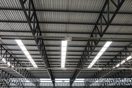 Metal roof structure and Channel light photo