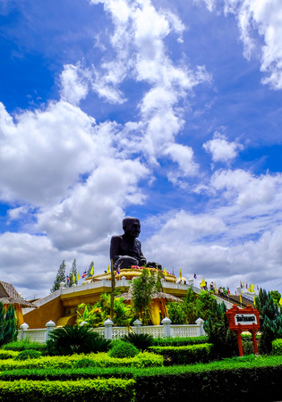 pu: The big buddha of Luang Pu Thuat in Wat Huey mongkol.