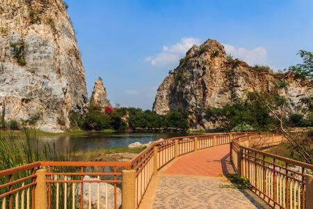 pathways: Pathways in Stone Park Kao-ngu, Ratchaburi Thailand.