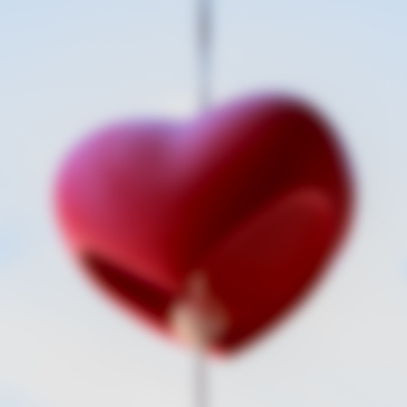 Blur red heart shaped. Abstract background.