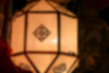 sa: Blur Lights and lantern, abstract background. Sa paper Festival, Thailand.