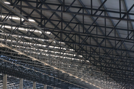 metal structure: Metal roof structure, Texture background.