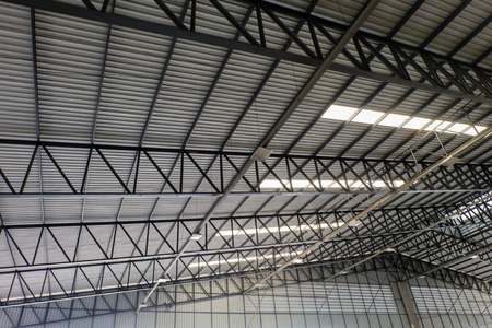 metal structure: metal roof structure and channel light