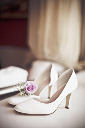 Female wedding shoes. Stock fotó