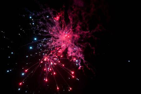 Color fireworks backgriund. Banque d'images