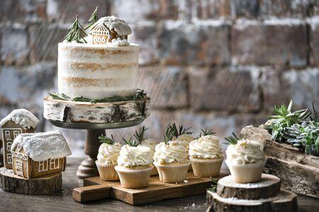 Winter dessert table.
