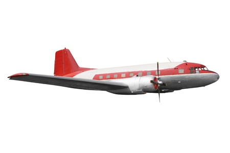 Old airplane isolated on white background Stock Photo