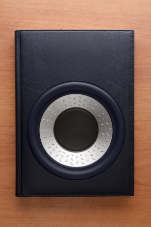 Concept of audiobook with integrated speaker photo