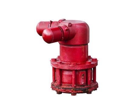 borne fontaine: Fire hydrant fond blanc Banque d'images