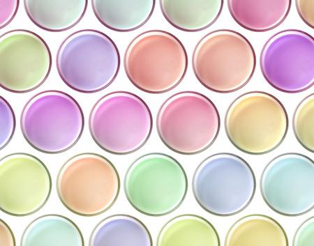 multi colors: Multi colors milk vibrant top view on white background, concepts