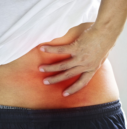 Backache. Pain in the lower back