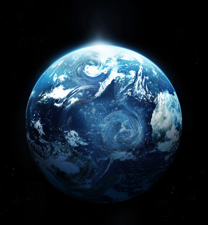 south space: Storm on the planet earth  Stock Photo