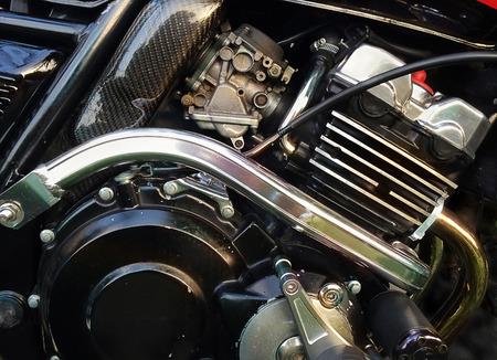 오토바이 엔진 근접 촬영