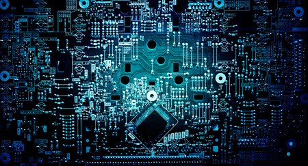 Electronic circuit grunge background
