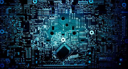 Electronic circuit grunge background