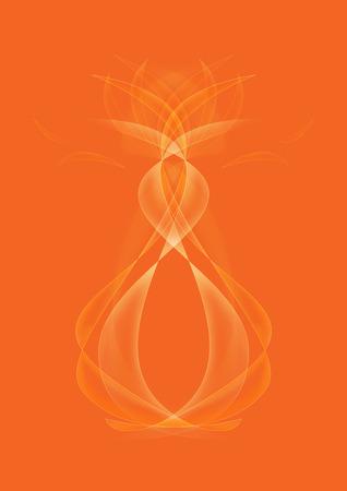 cuve: Abstract Orange Background illustration Stock Photo
