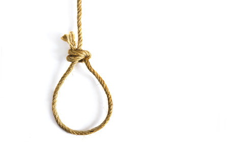 noose: noose on white background Stock Photo