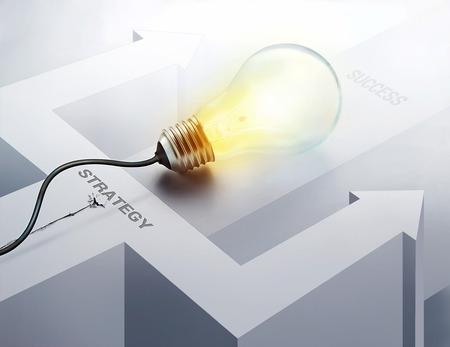 business idea: Inspiration concept light bulb for business idea success