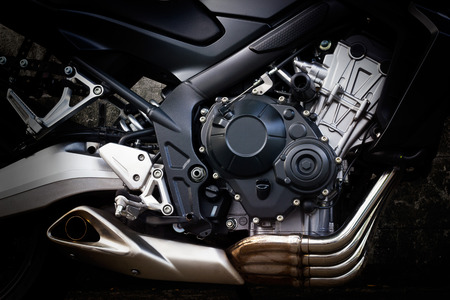 Motorcycle engine closeup 写真素材