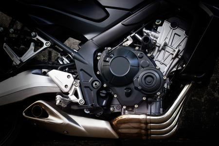 Motorfiets motor close-up