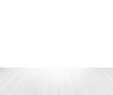 white wooden floor top perspective on white background Stock Photo