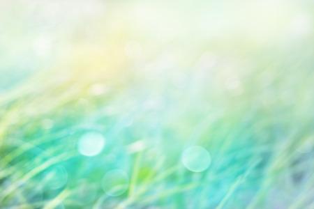 Blured 抽象的な草と自然 (パステル グリーン) のソフト フォーカスの背景ぼかし 写真素材