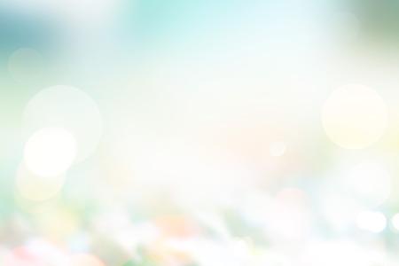 Abstract pastel stijl, wazig gras op de grond in de natuur, de zomer en de lente licht zonneschijn concept, Soft focus en onscherpte Stockfoto