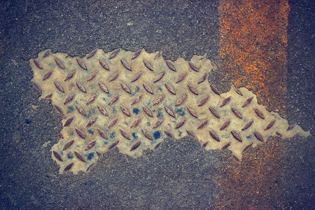 metal grunge: grunge floor and metal texture for background Stock Photo