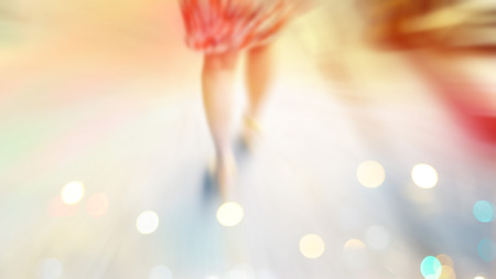 siluetas mujeres: Abstract background, woman street walk, pastel and blur concept