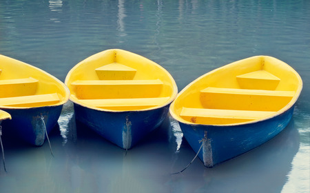 fiberglass: colorful fiberglass boats on water