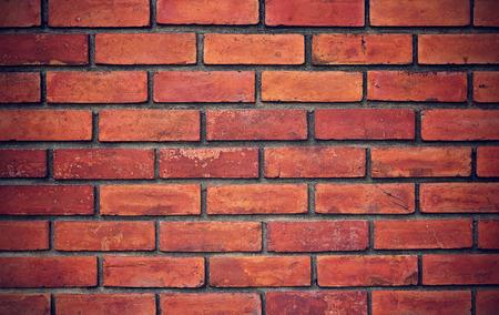 グランジの赤レンガの壁の背景