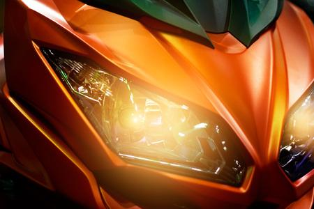 headlights: Colorful headlights modern motorcycle