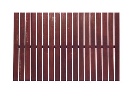slats: wooden fence on white background