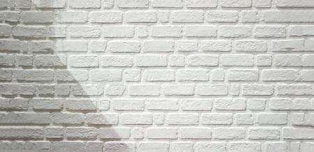 Biały mur z cegły lub tekstury dla tła