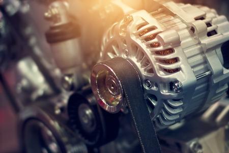 カラフルな車エンジン部品