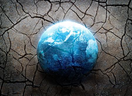 地震、世界、環境の概念、NASA から提供されたこの画像の要素のほとんどの災害 写真素材