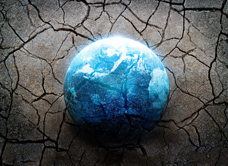 the natural world: Earthquake, the most disaster of the world, Environment concept, Elements of this image furnished by NASA Stock Photo