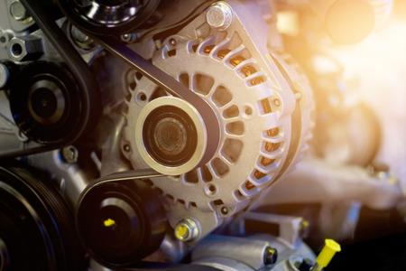 crankshaft: colorful car engine part