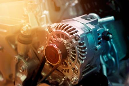 une partie de moteur de voiture coloré Banque d'images