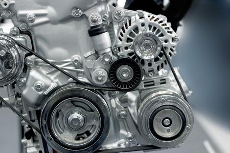 colorful car engine part