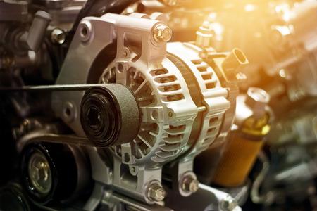 engine: colorful car engine part