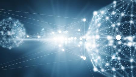 Conexión de red abstracta sobre fondo oscuro