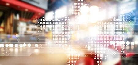 technology: Abstraktní síťová technologie pro pozadí