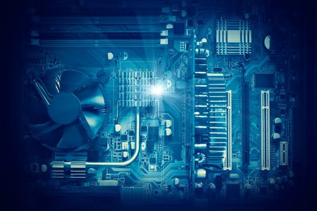 mainboard: Electronic circuit and computer mainboard