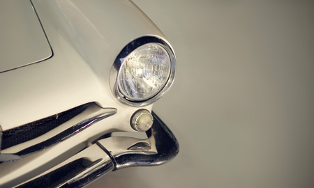 Classic car with headlights Stock Photo